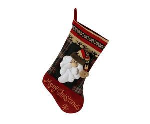 calza decorativa x'mas santa - 15x52x1 cm