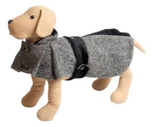 Cappottino doppiopetto in lana CASANOVA nero - S