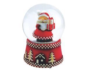 carillon sfera di neve natale - d 12/h 15 cm