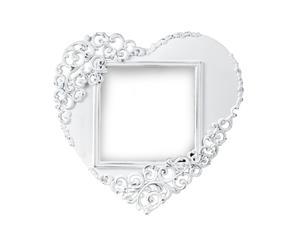 Portafoto d'appoggio in metallo Elegance Heart - 12x12 cm