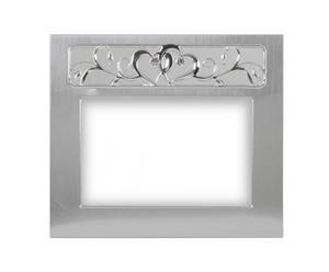 Portafoto d'appoggio in alluminio Hearts - 19x16,5 cm