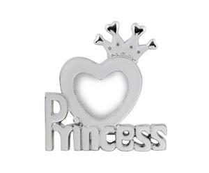 Portafoto d'appoggio in metallo Princess - 12x13 cm