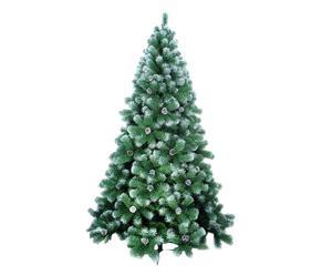 albero di natale innevato artesina - d 85/h 150 cm
