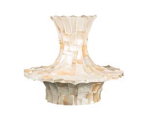 Vaso in resina con scaglie di conchiglia naturale Kabibe - 70x50 cm