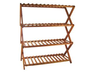 scarpiera in legno a 4 piani orea - 77x67x29 cm