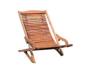 sdraio prendisole in legno keruing - 105x61x78 cm