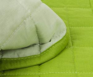 QUILT matrimoniale double face MONOCROMIE - verde/kaki