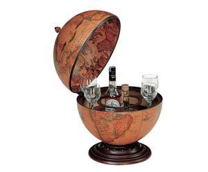 globo bar da tavolo in polistirolo antiurto marrone - 50x40 cm