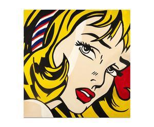 Dipinto olio su tela Ragazza Bionda - 60x60 cm