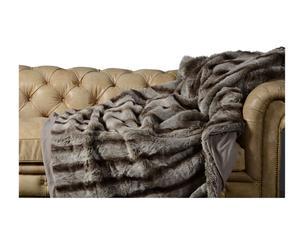 coperta in ecopelliccia cold orso argentato - 250x240 cm