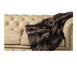 coperta in ecopelliccia cold orso di montagna - 130x145 cm