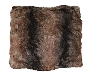 Cuscino in ecopelliccia effetto orso di montagna - 45x45 cm