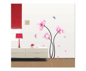 Sticker in vinile Pink flowers I - 50x70 cm