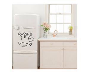 Sticker in vinile per frigorifero surprised cat - 35x40 cm