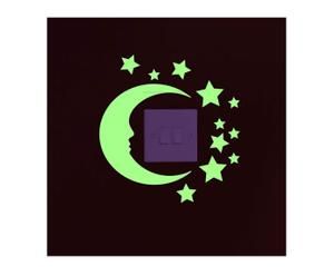 sticker fluorescente moon and star - 20x25 cm