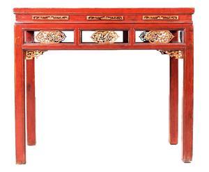 Consolle cinese in olmo Ga-en pezzo unico - 93x105x54 cm