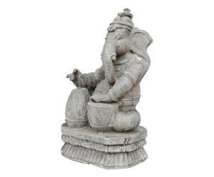 Scultura in teak di Ganesh, dio con testa di elefante - 26x42x19 cm