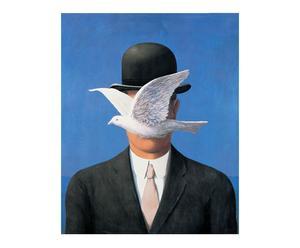 Stampa su pannello in Mdf Homme au chapeau - 46X57 cm