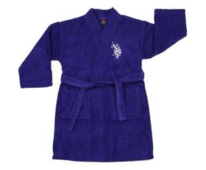 Accappatoio bambino Uspa viola blu 3/4 anni in cotone