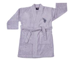 Accappatoio bambino Uspa grigio 3/4 anni in cotone