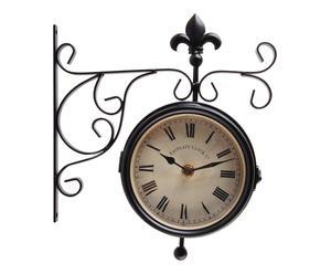 orologio bifacciale da parete in metallo eastgate - 25x29x9 cm