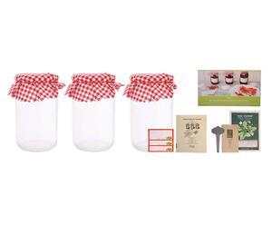 Set per la preparazione della confettura di fragole - 8 pezzi