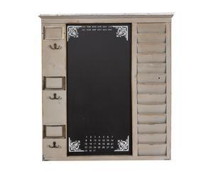 Lavagna organizer da parete in legno e metallo grigia - 63x72x6 cm