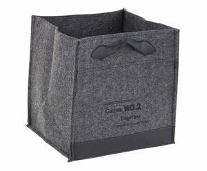 box porta oggetti in feltro gather grigio scuro - 32x32x32x cm