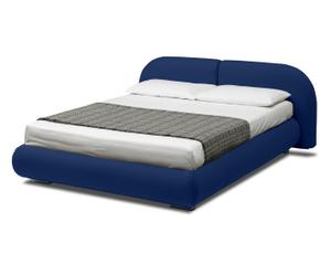 letto contenitore matr. in ecopelle candy blu - 224x83x205 cm