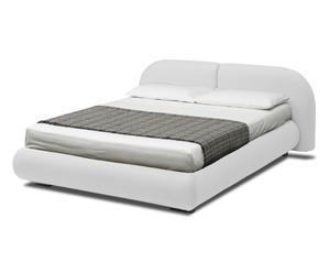 letto contenitore matr. in ecopelle candy bianco - 224x83x205 cm