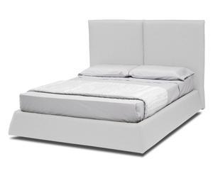 letto contenitore matr. in misto cotone ofelia bianco - max 185x130x220 cm