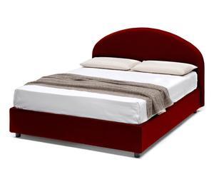 letto contenitore matr. in ecopelle giotto rosso - 170x95x205 cm