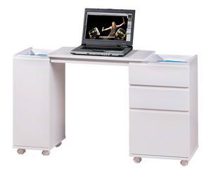 Mobile scrivania in legno con 3 cassetti Movida - 37x72x66/121 cm
