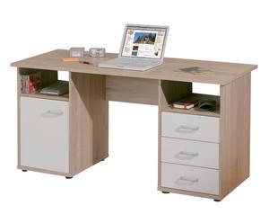 Scrivania in nobilitato con 3 cassetti Office II - 148x75x60 cm