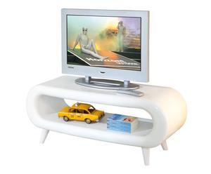 mobile tv in vetro bianco IN GALAXY - 120x46x42 cm