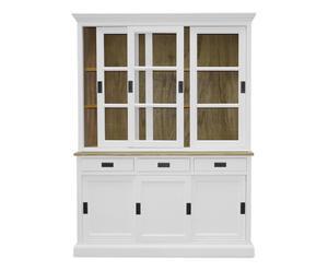 credenza in legno massello MARGOT bianco - 152x204x43 cm