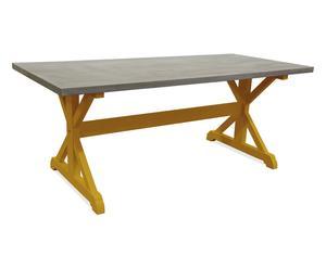 tavolo in legno massello MARGOT ocra - 200x98x78 cm