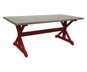 tavolo in legno massello MARGOT vinaccia - 200x98x78 cm