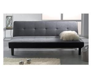 Divano letto in cotone capitonne' volare grigio - 180x77x92 cm