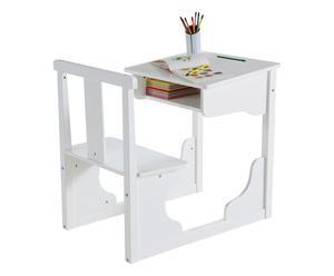 Banco con sedia e vano in Mdf - 55x74,7x81 cm