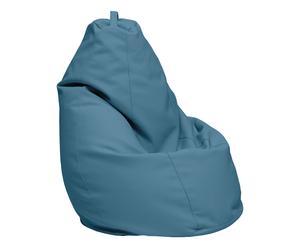 Beanbag seat in ecopelle azzurro - 45x70x70 cm