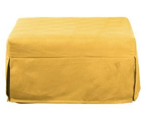 Pouf letto giallo + materasso - 80x45x80/190 cm