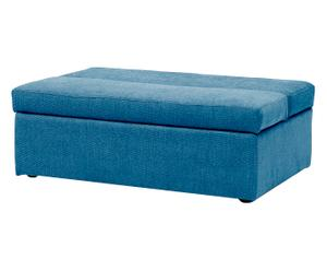 Pouf letto azzurro + materasso - 110x40x70/240 cm