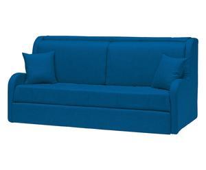 Divano letto in cotone blu - 195x95x85 cm