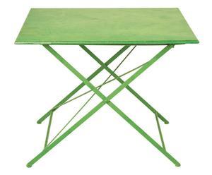 tavolo quadrato pieghevole in ferro Romantic verde - 100x100x79 cm