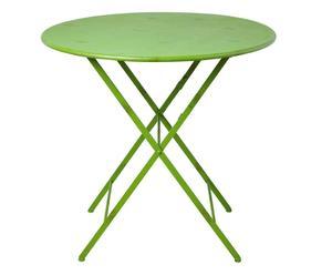 tavolo circolare pieghevole in ferro Romantic verde - 100x78 cm