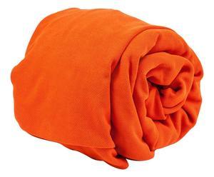 Copridivano 3 posti in tessuto misto arancio - L 180/250 cm