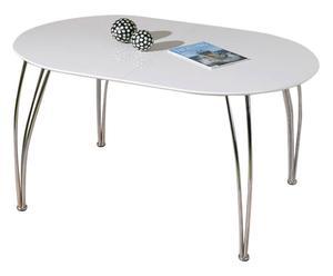 tavolo ovale estensibile in metallo e legno dama - max 180x90x74h cm