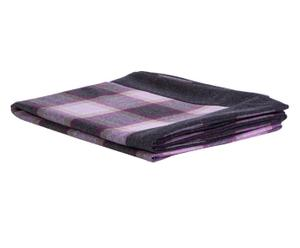 Plaid scozzese in misto lana merinos viola - 140x180 cm