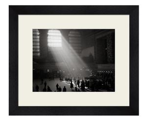 Stampa con cornice in legno sunbeams shining black - 60x50x4 cm